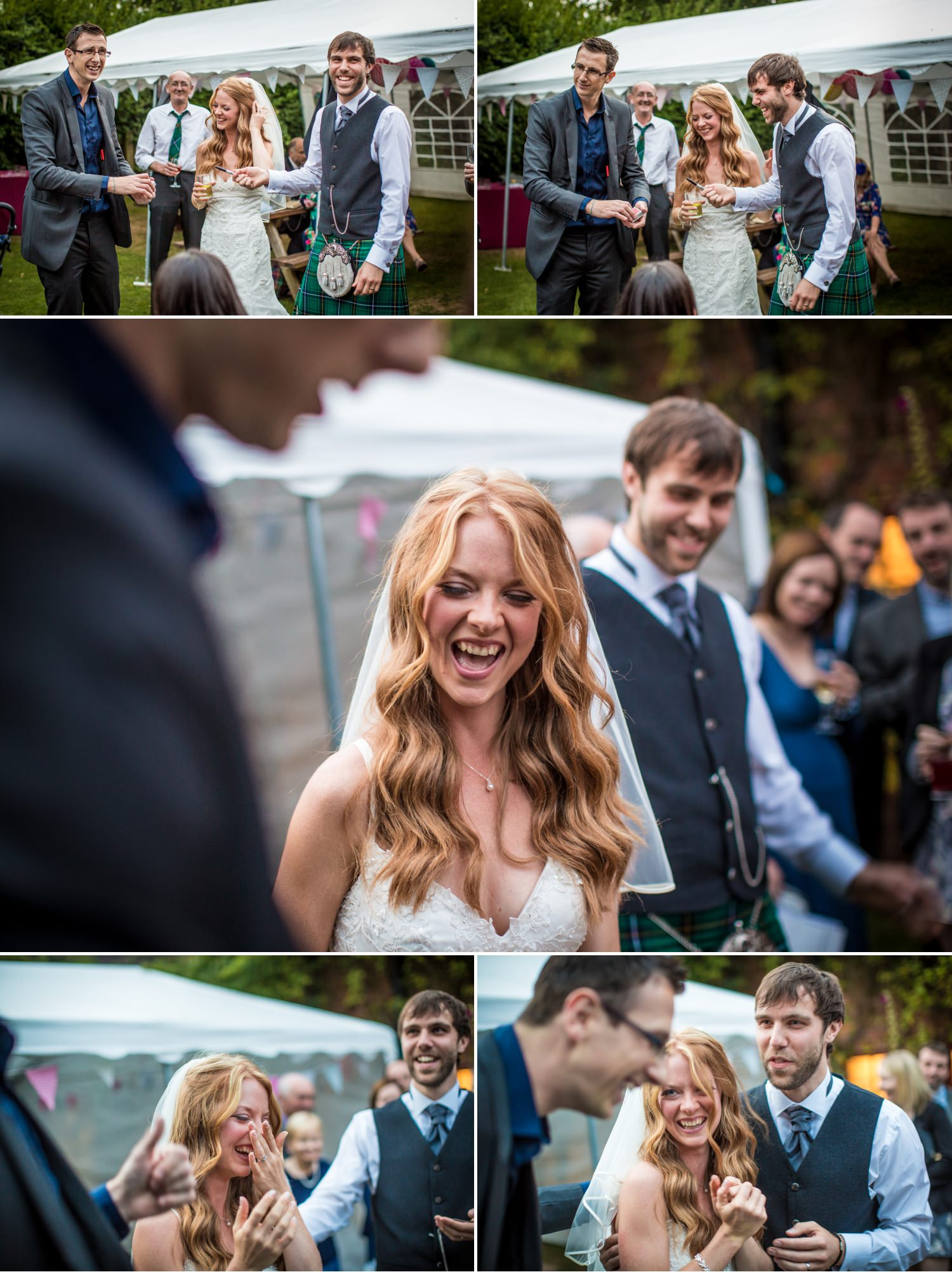 Wedding photography guests mingling at Cheshire venue Hundred House Hotel