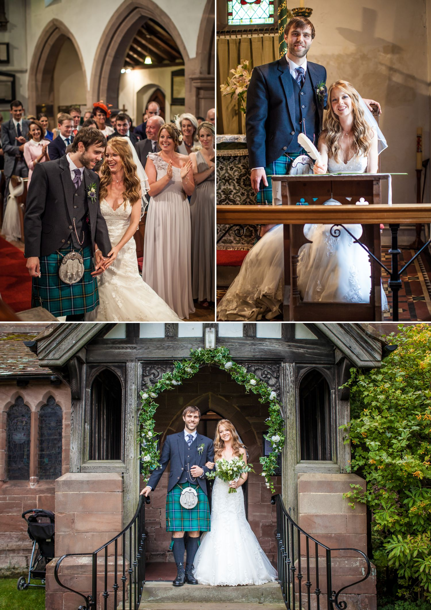 Wedding photography of the wedding ceremony at Hundred House Hotel