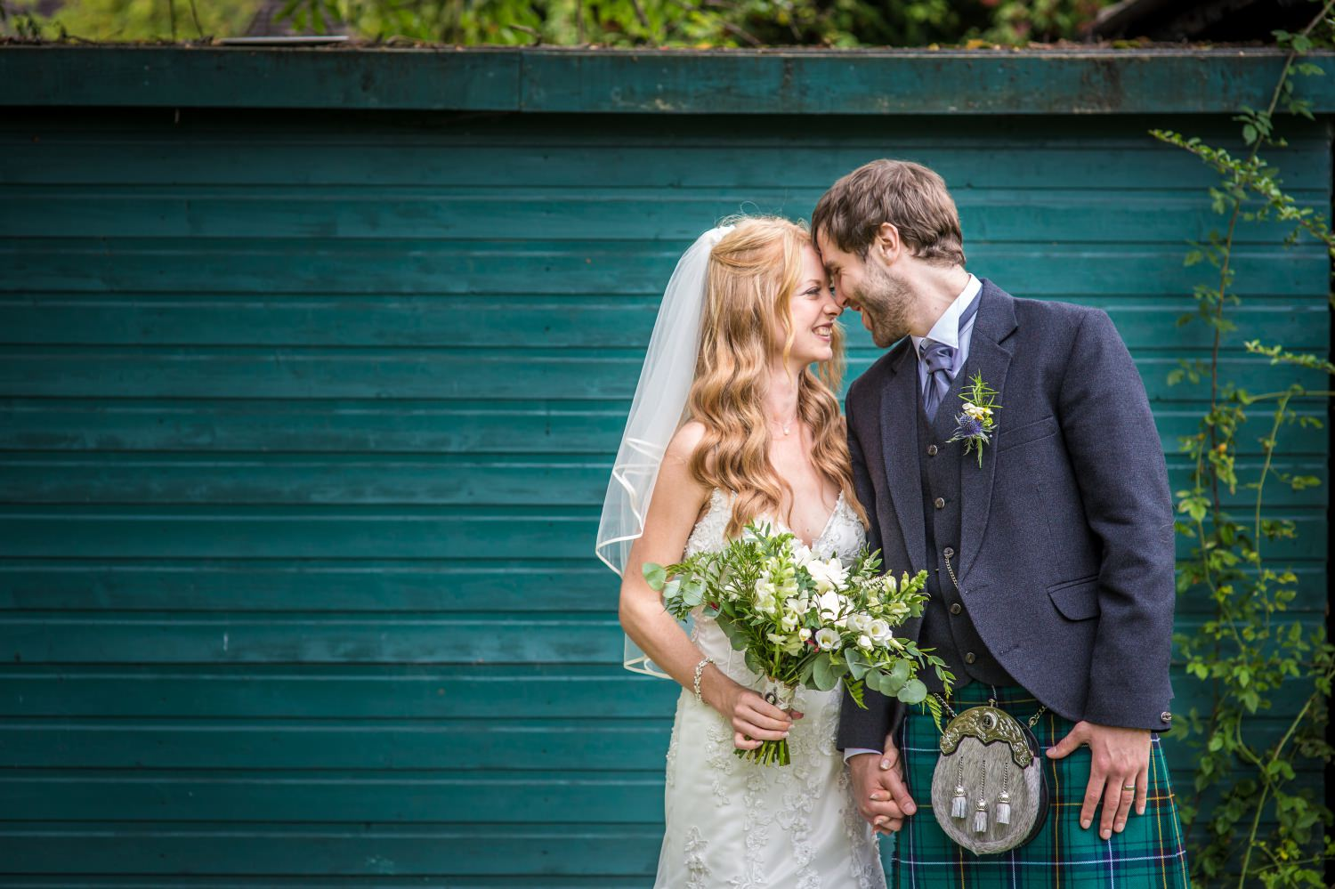 Wedding portrait at Cheshire venue Hundred House Hotel