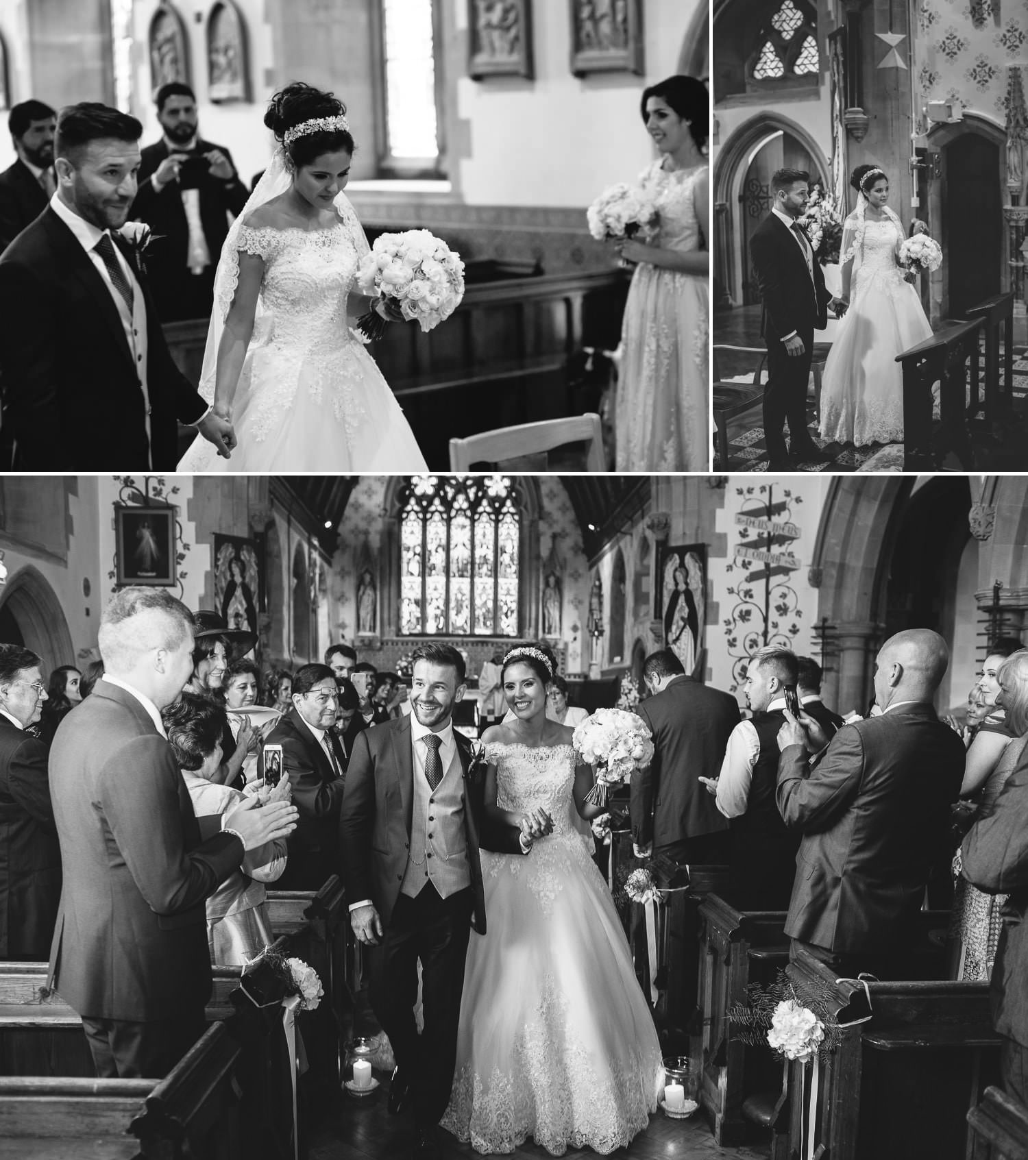 Wedding photography of wedding ceremony of bride and groom in Chester, Cheshire