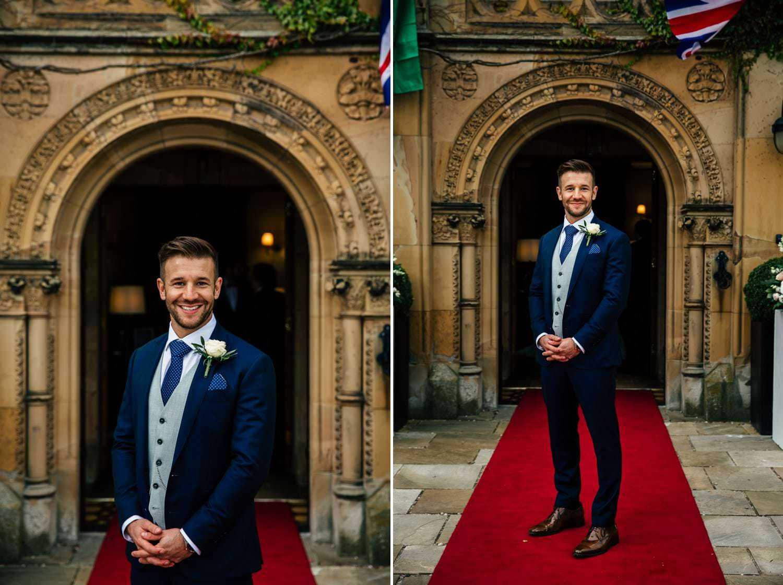 Wedding photography portraits at soughton hall, chester