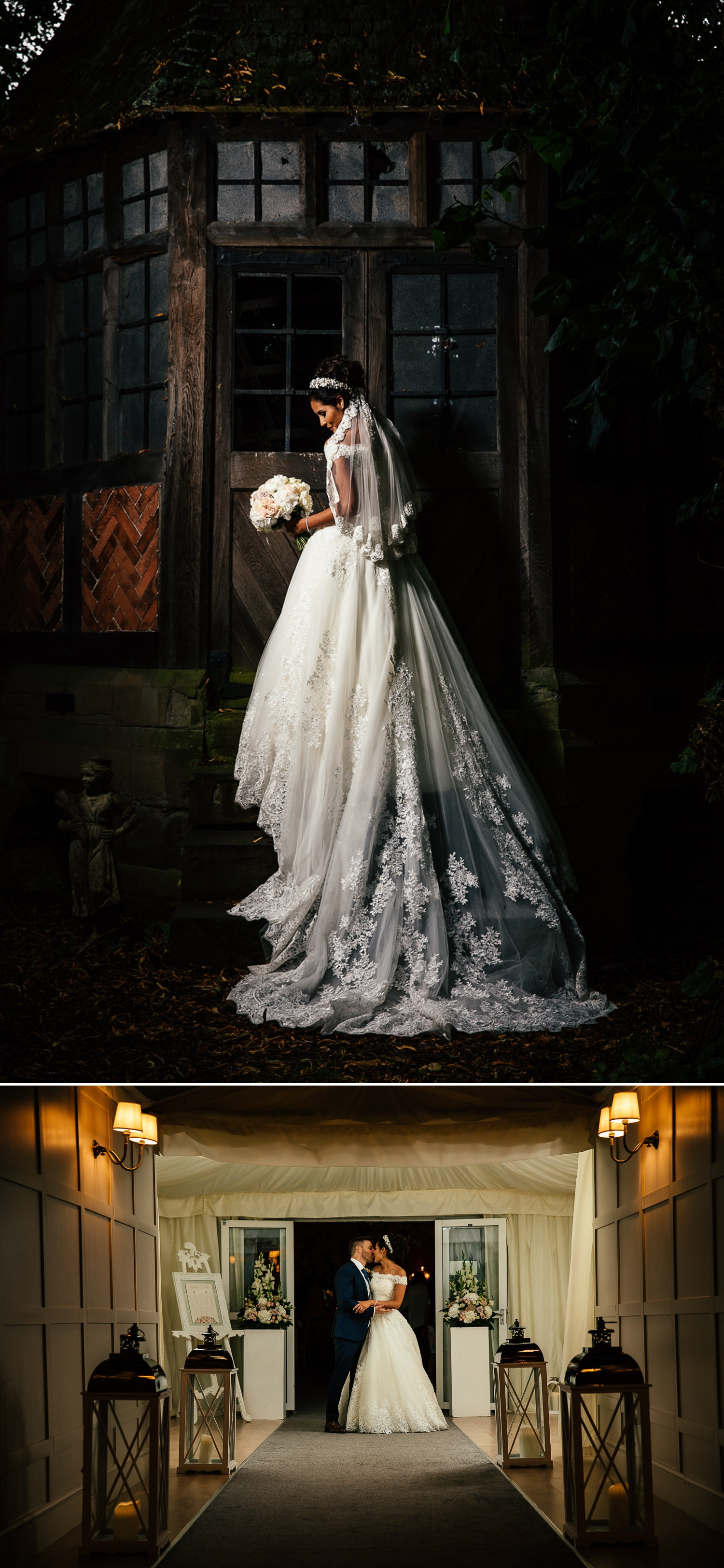 Wedding photographt bridal portraits of wedding at sougthon Hall, Chester, Cheshire