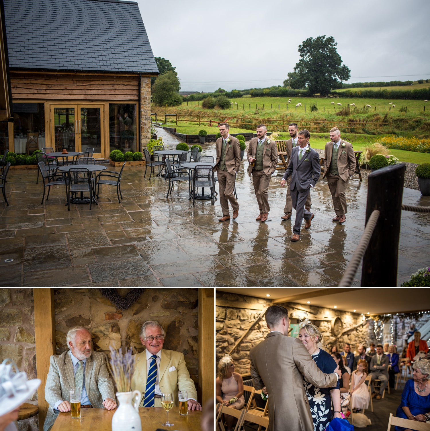 Wedding photography at Tower Hill Barns, North Wales
