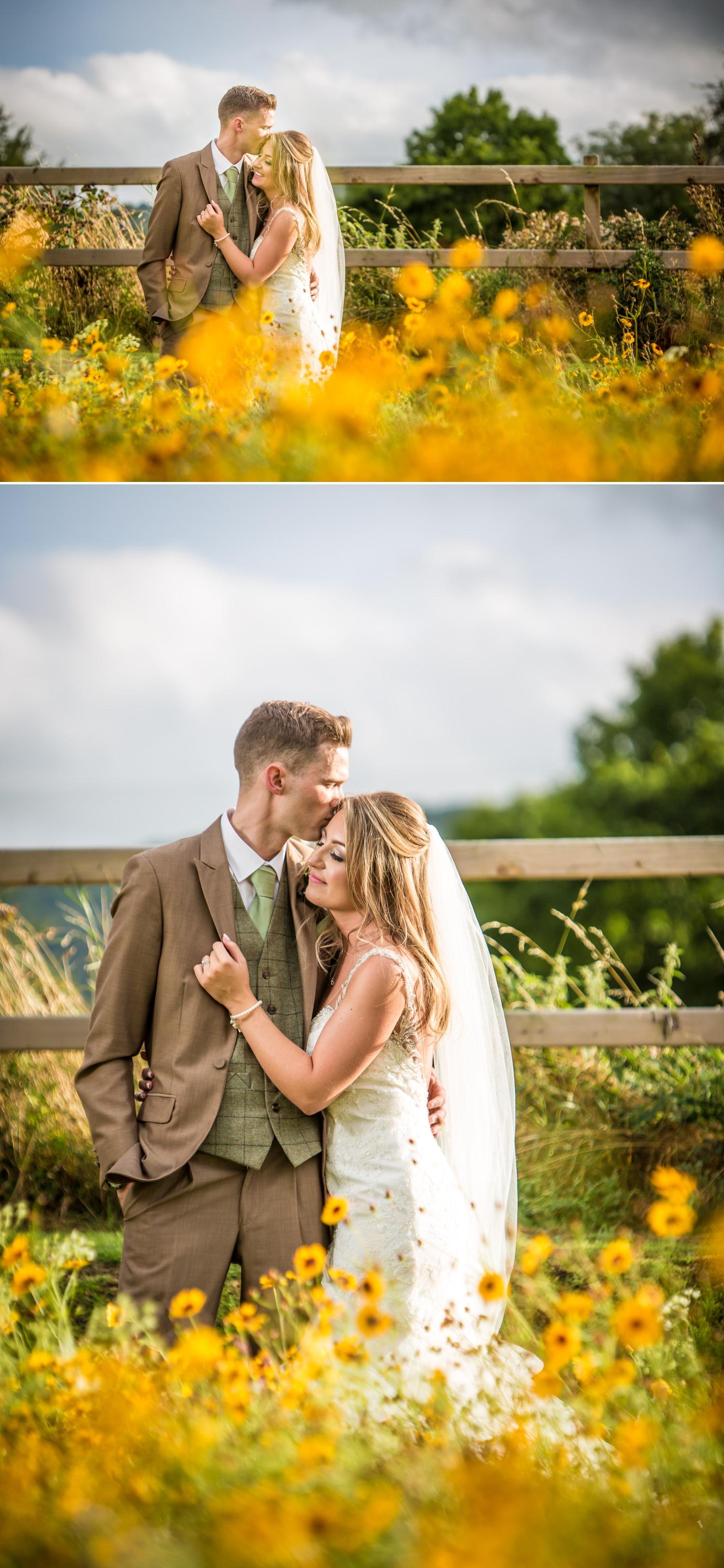 Wedding photography couple weddng shots at Tower Hill Barns, North Wales