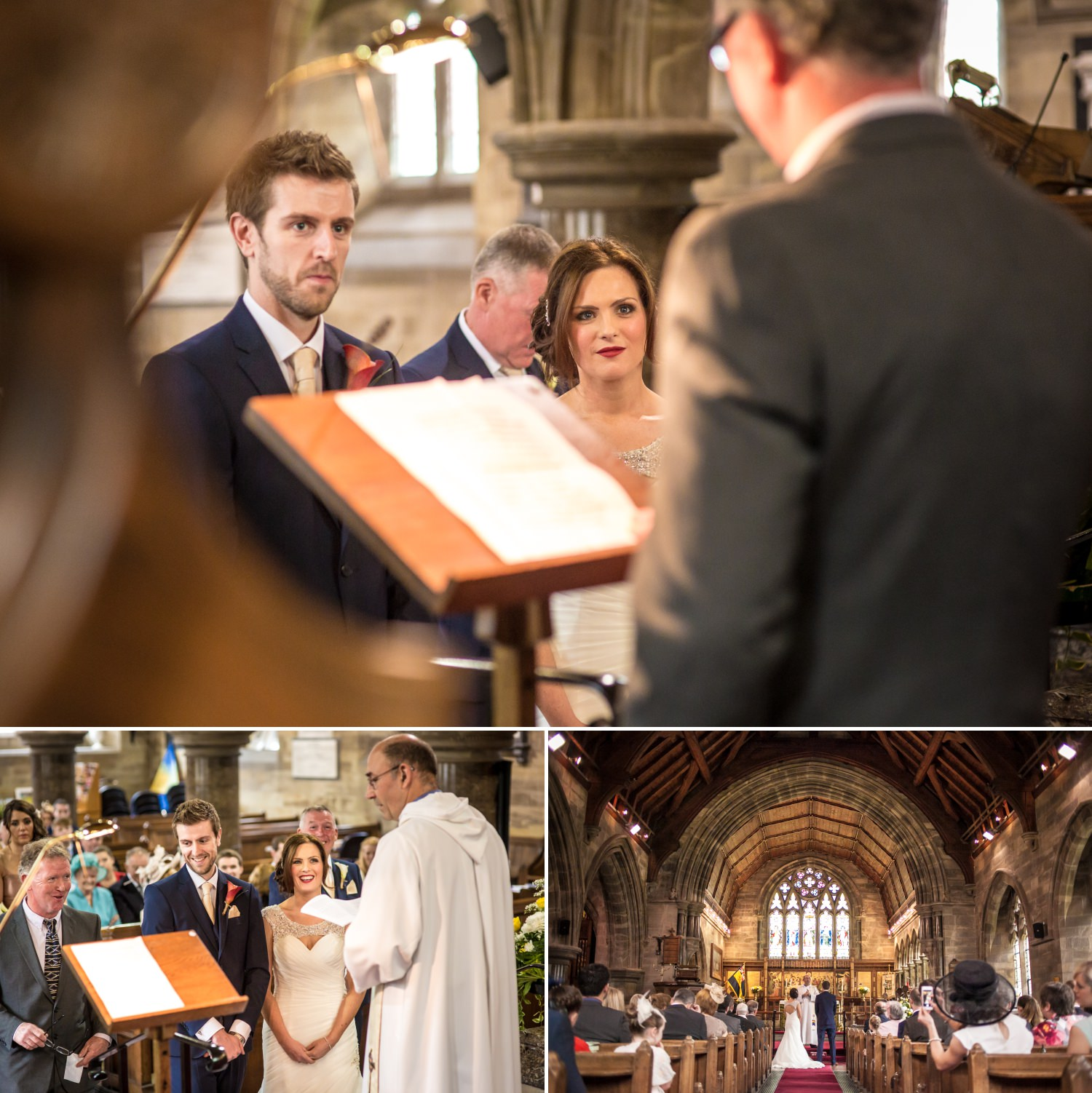 Wedding Photography of the wedding ceremony in a church in North Wales