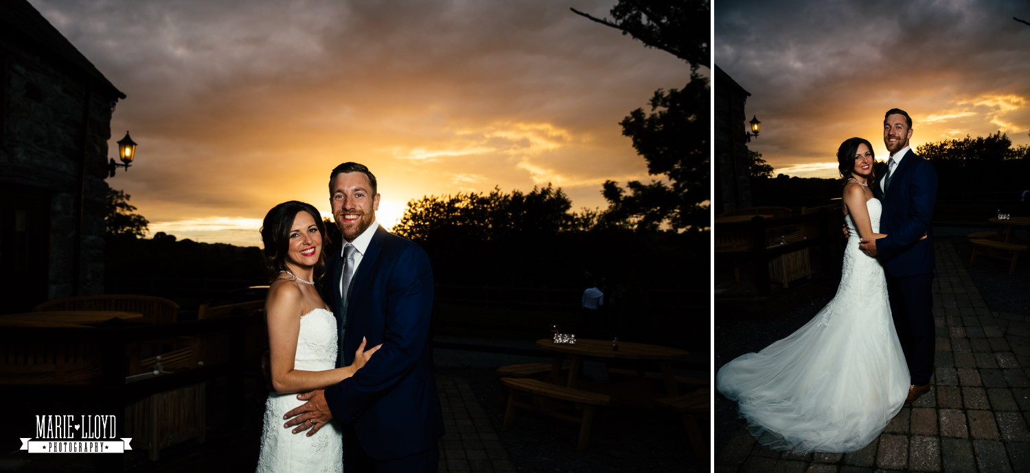 Wedding Photography sunset portraits at Plas Isaf, North Wales