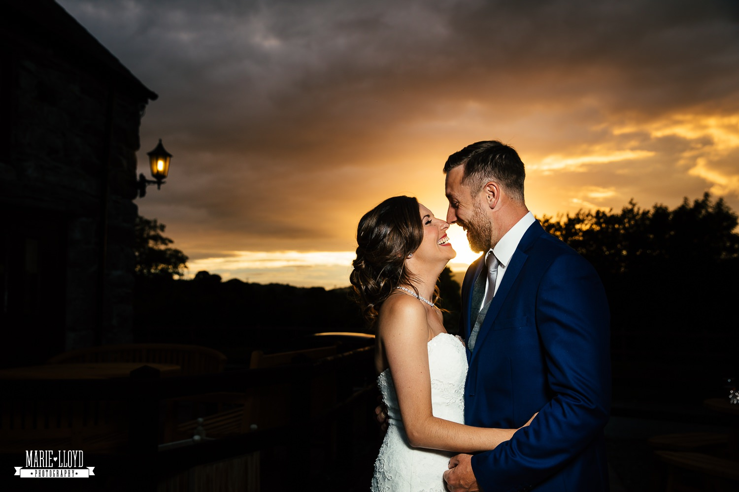 Wedding Photography sunset photography at Plas Isaf, North Wales