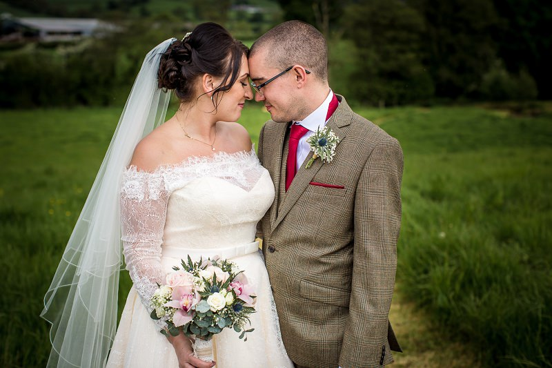 Wedding photography portraits of couple in North Wales,