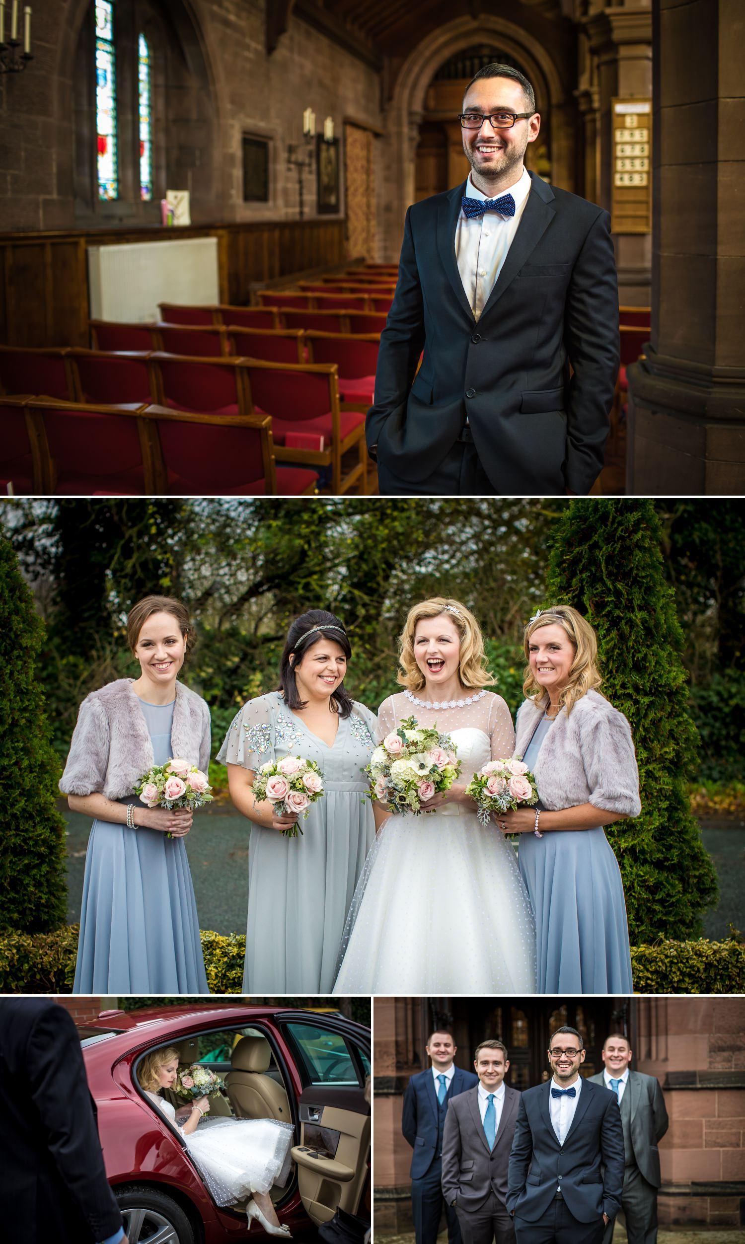 Wedding photography taking in the church in Handbridge Chester