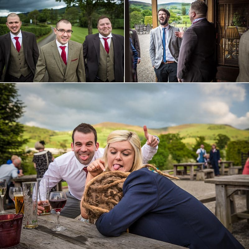 wedding photography of guests at vale country club in ruthin north wales