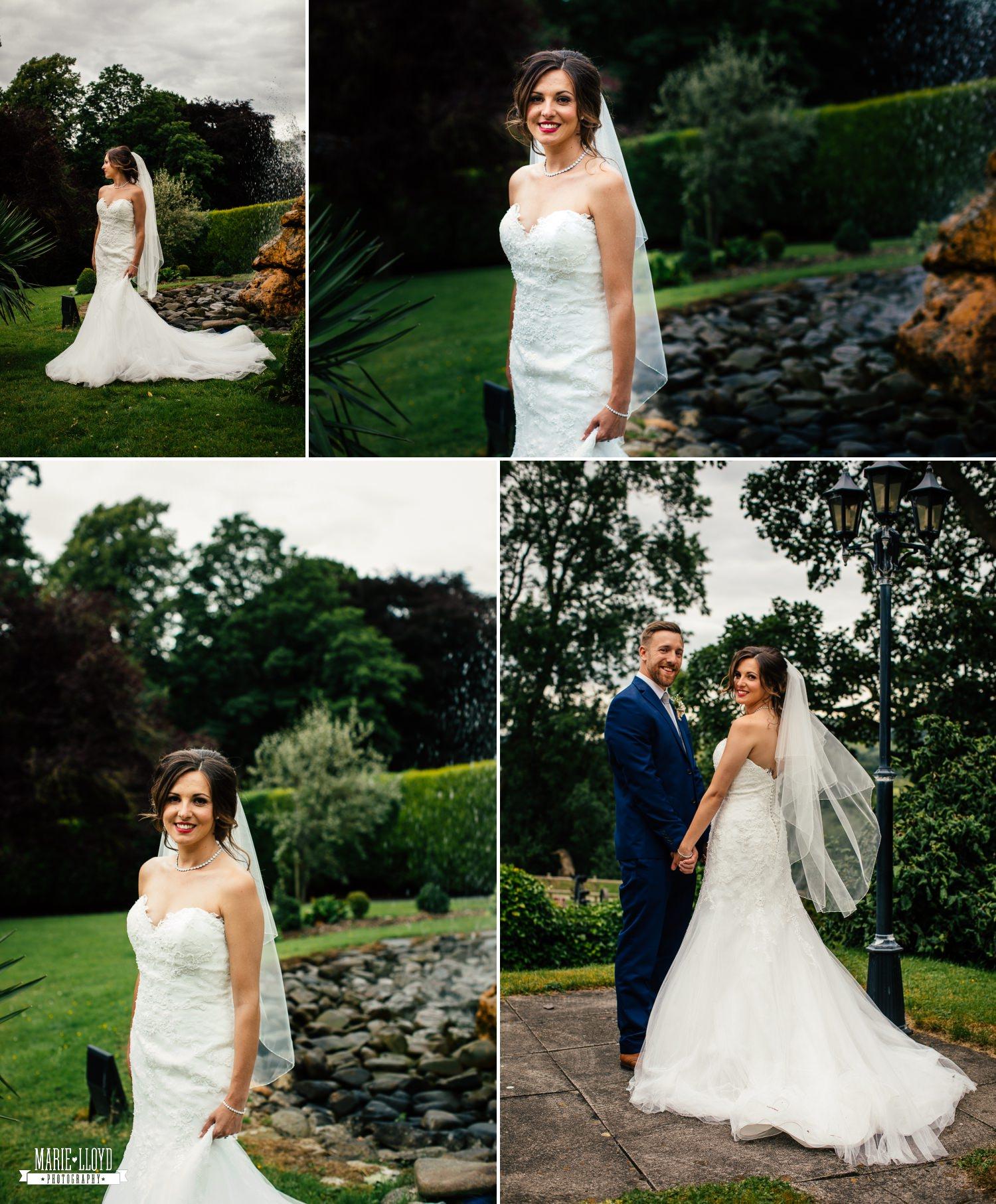 Wedding Photography bridal portraits at Plas Isaf, North Wales