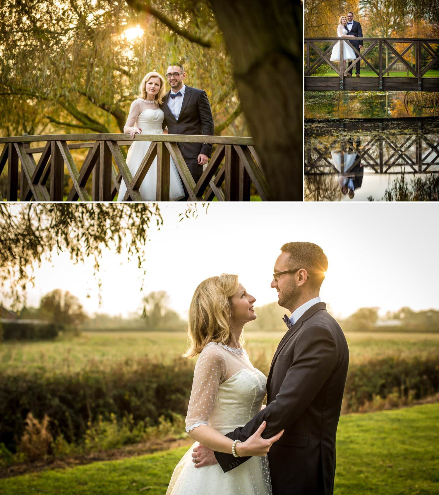 Wedding Photography in the grounds of Chester venue Grosvenor Pulford