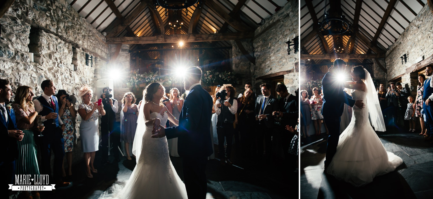 Wedding Photography of the first dance at Plas Isaf, North Wales