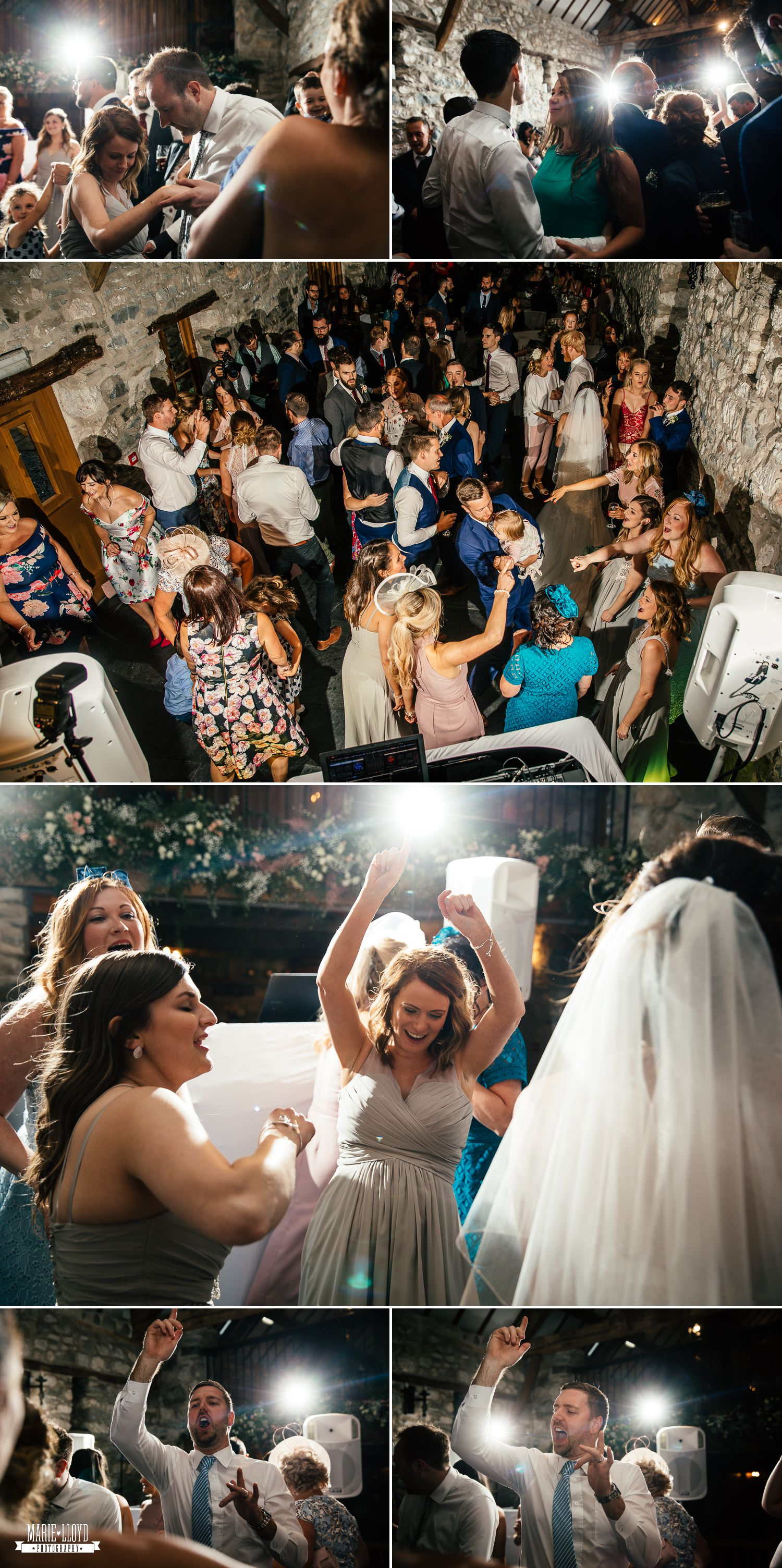 Wedding Photography of evening celebrations at Plas Isaf, North Wales