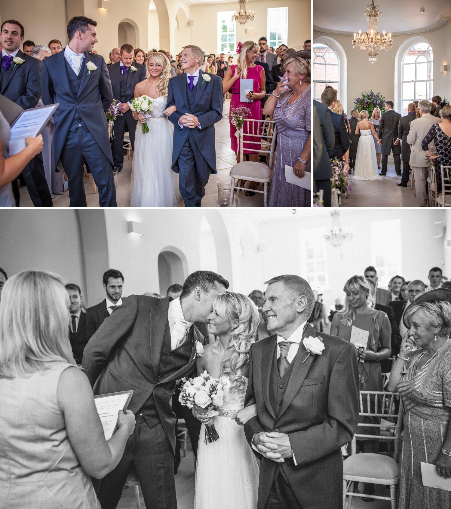 Wedding Photography of wedding ceremony at Iscoyd Park