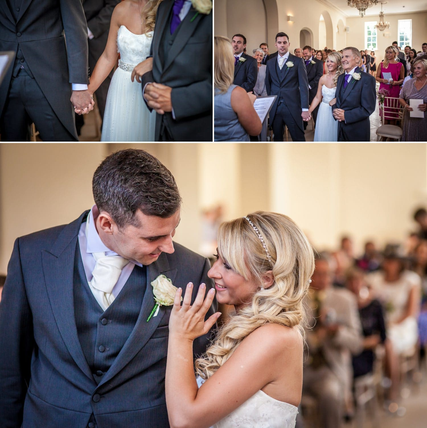 Wedding Photography of couple saying vows at  Iscoyd Park