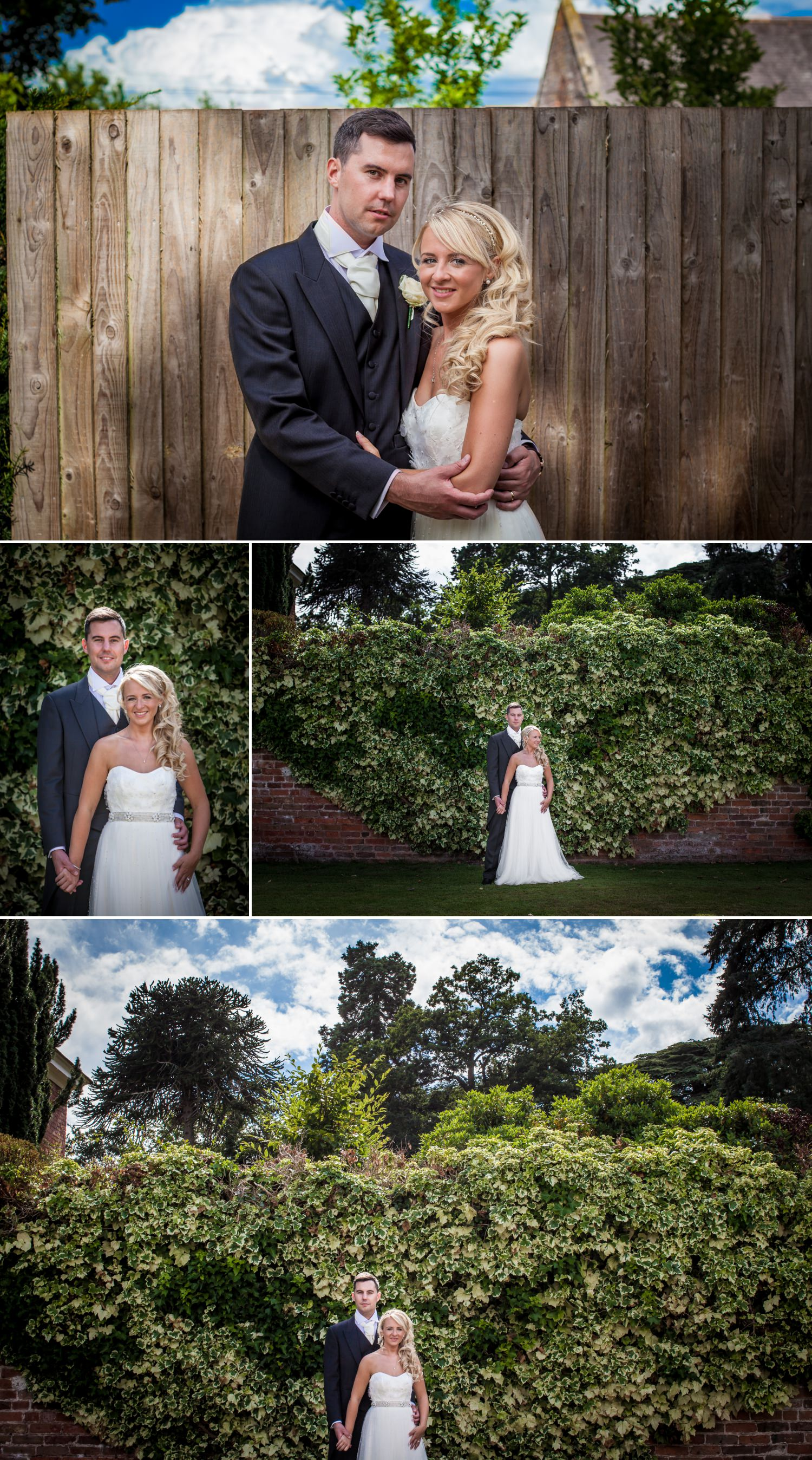 Wedding Photography portraits of bride and groom at Iscoyd Park