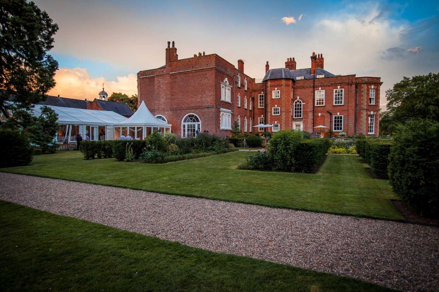 Wedding Photography of back of Iscoyd Park