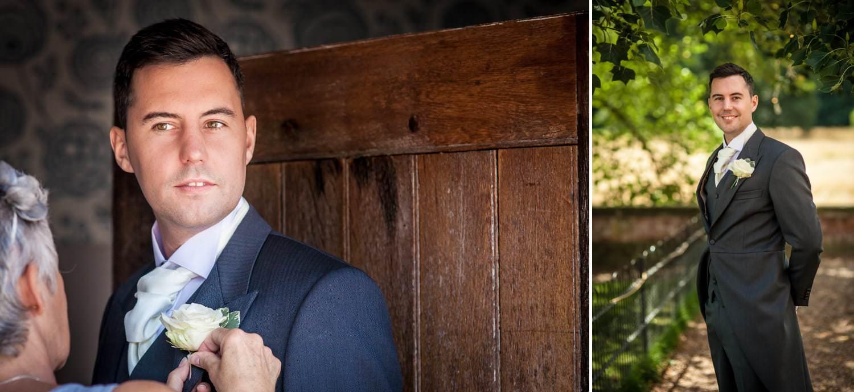 Wedding Photography of groom Iscoyd Park