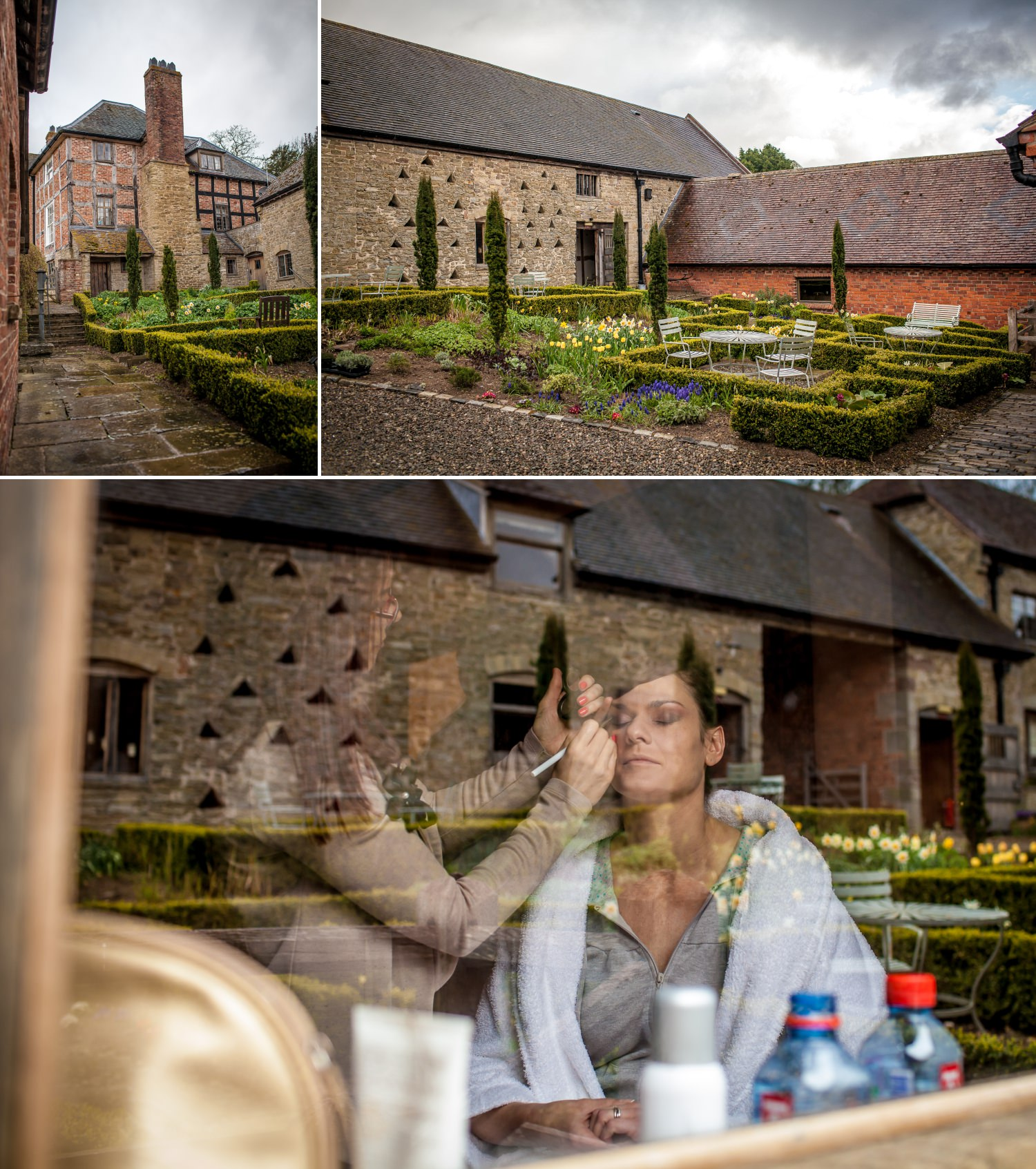 Weding Photography bridal prep in Old Downton Lodge Shropshire