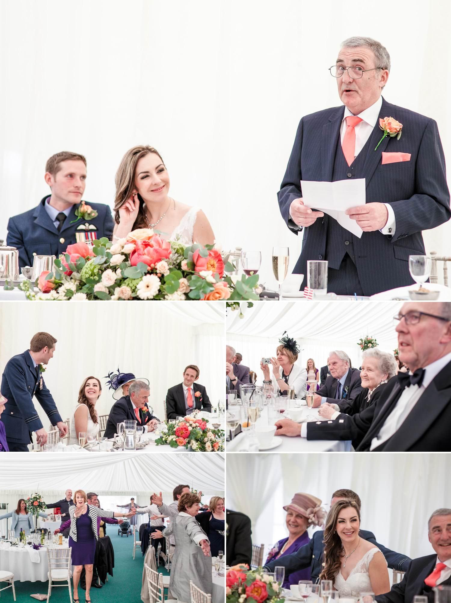 Weding Photography speeches at Netley Hall, Shropshire
