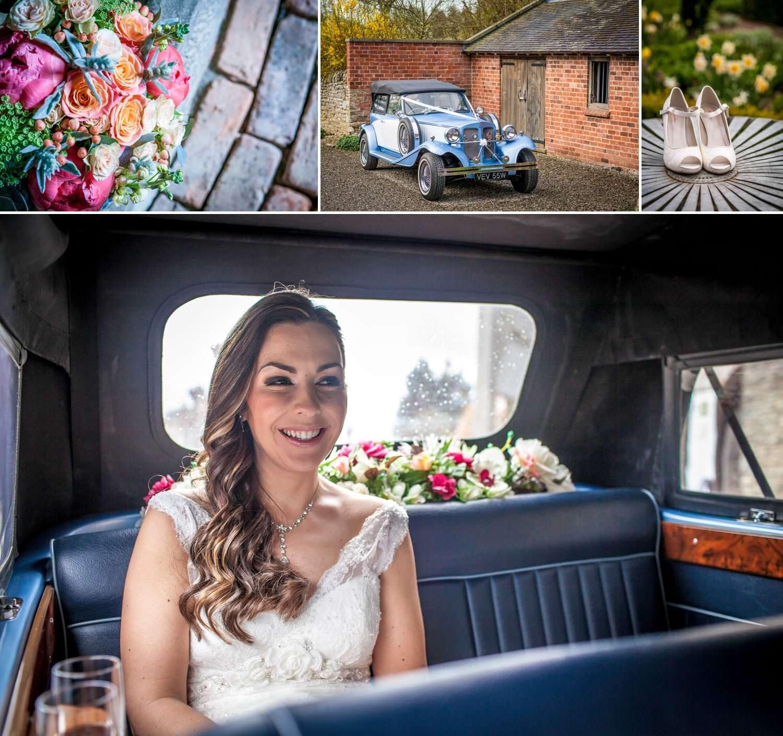 Weding Photography Shropshire of brides flowers and wedding car