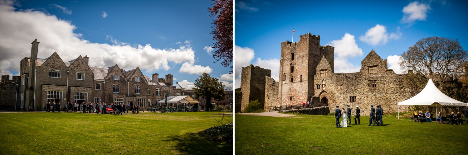 Weding Photography venue pictures of Ludlow Castle in Shropshire