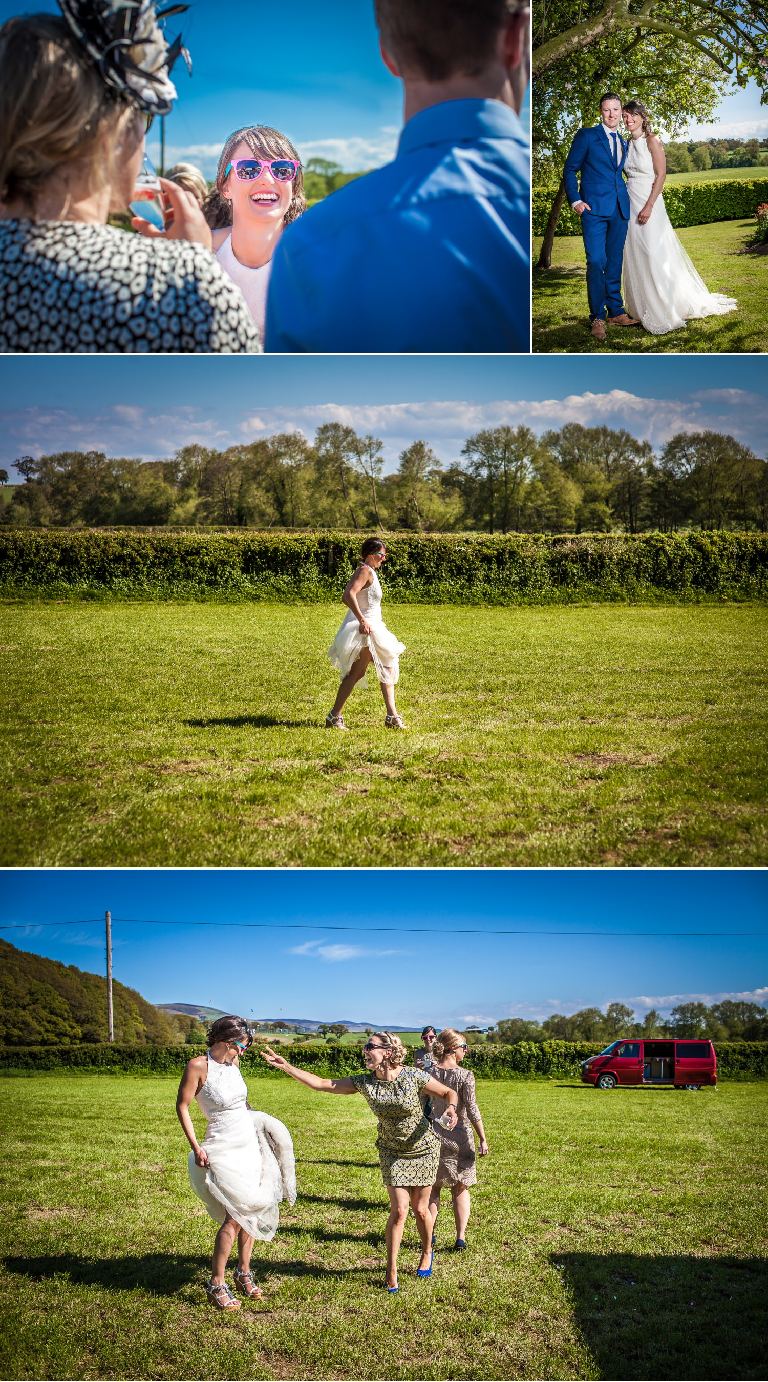 wedding photography of bride and groom north wales