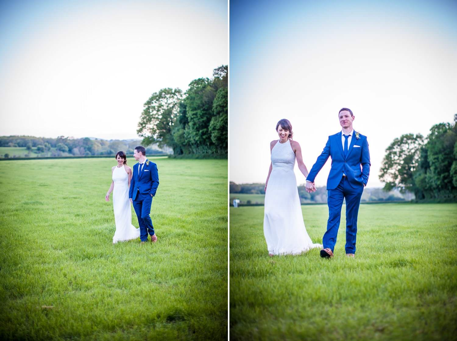 wedding photography portrait of bride and groom north wales