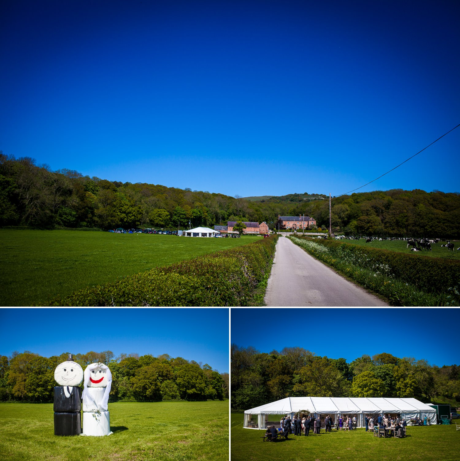 wedding photography of the wedding ceremony venue in north wales