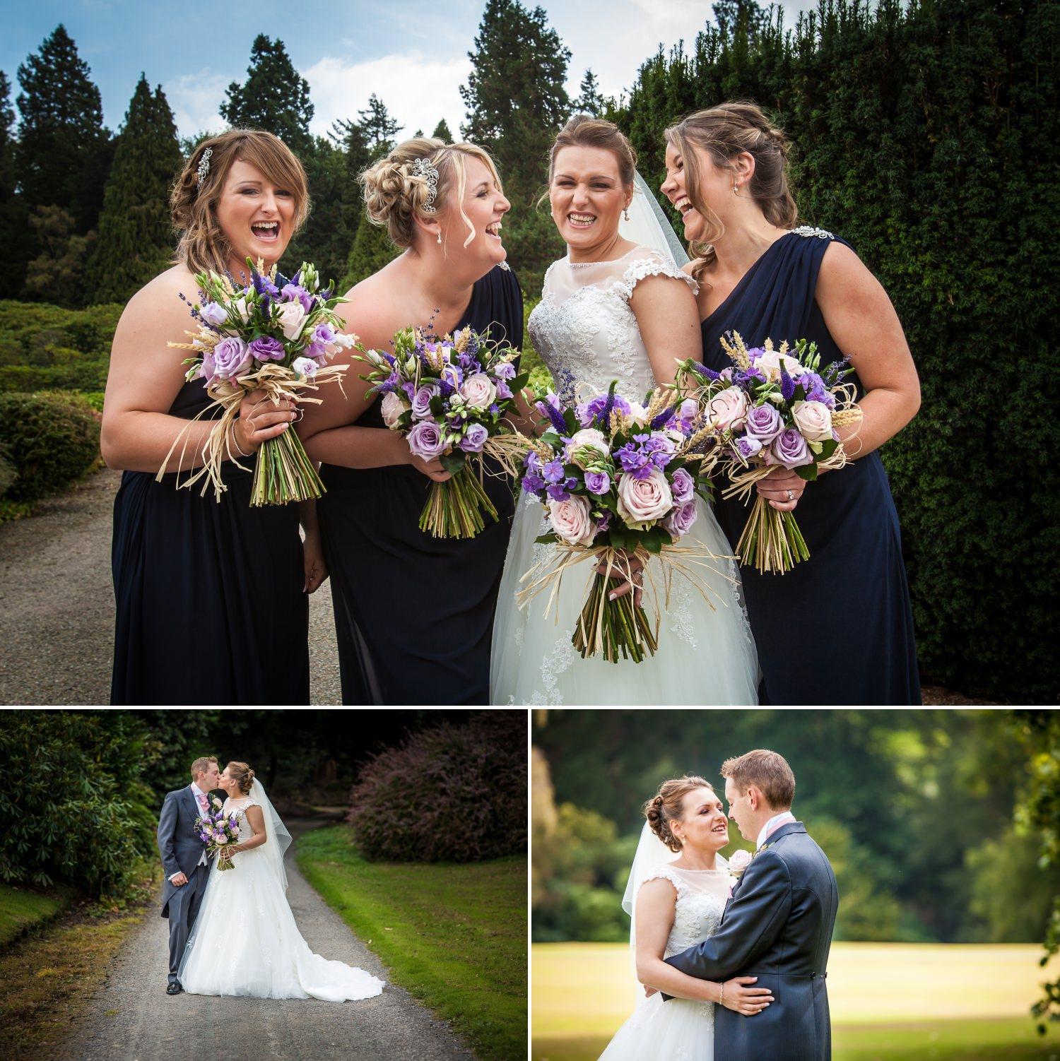 Wedding Photography Wales photograph of bridesmaids