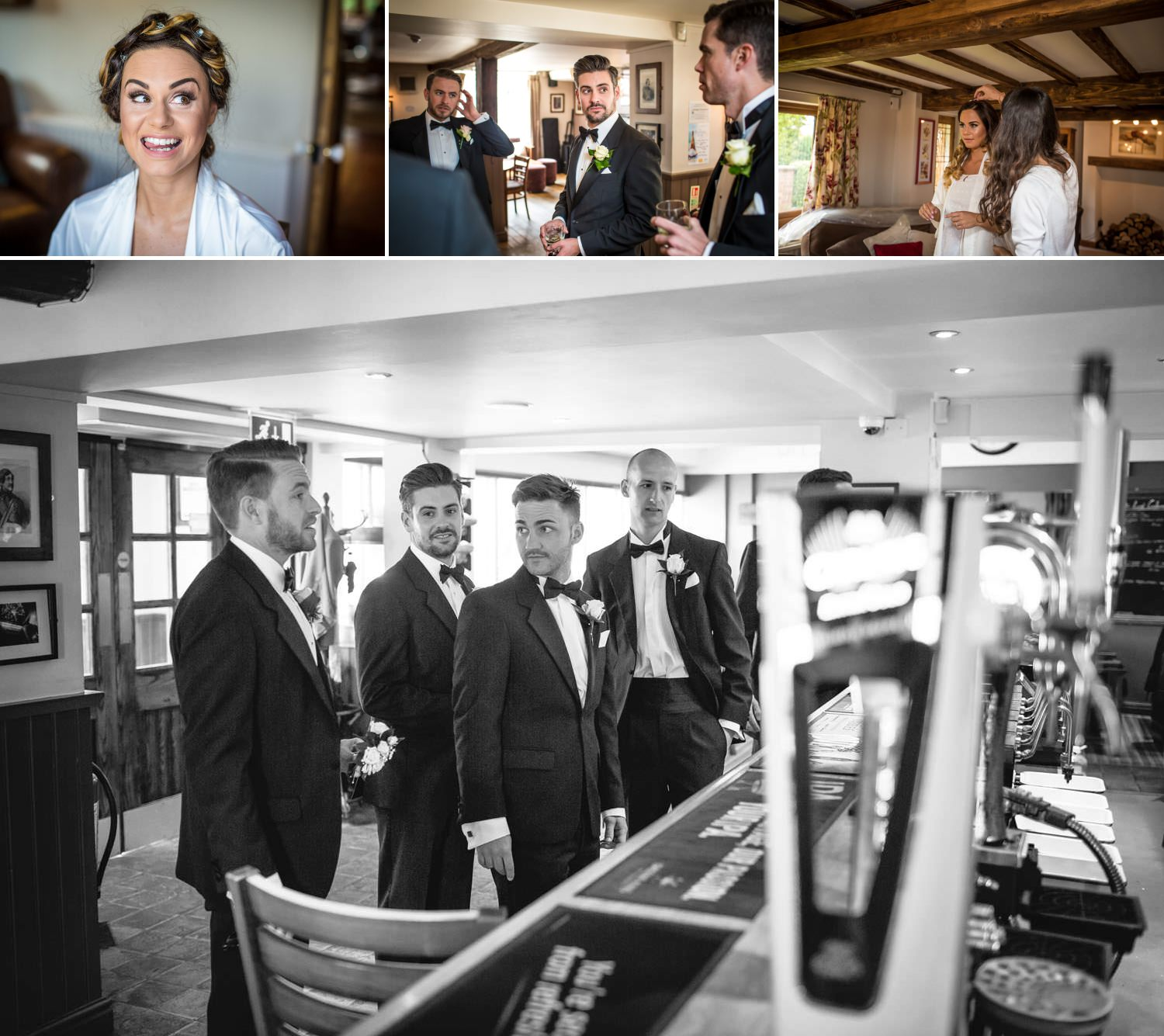 Wedding Photography bride and groom getting ready in Tern Hill Hall Shropshire