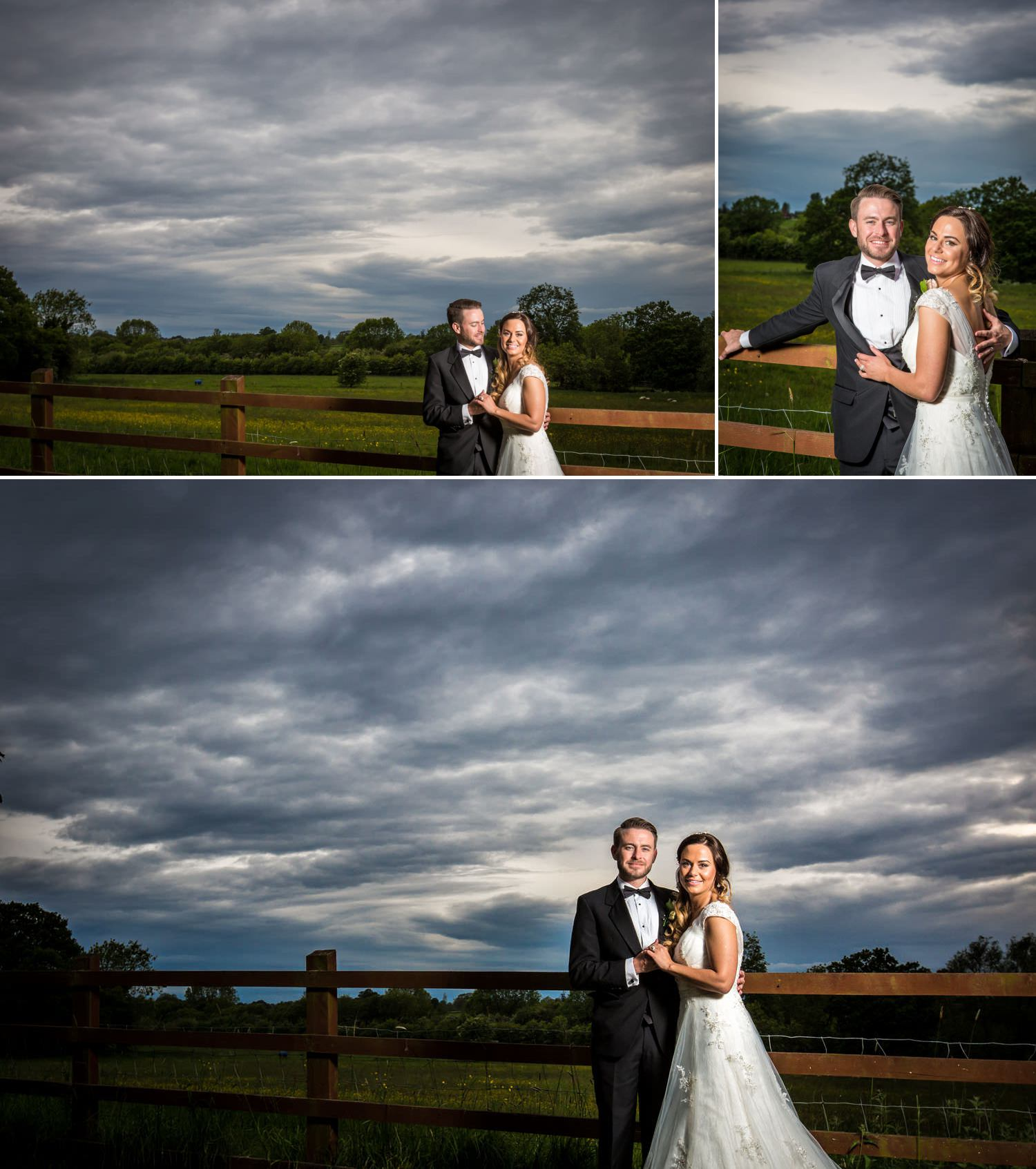 Wedding Photography Shropshire, evening wedding portraits