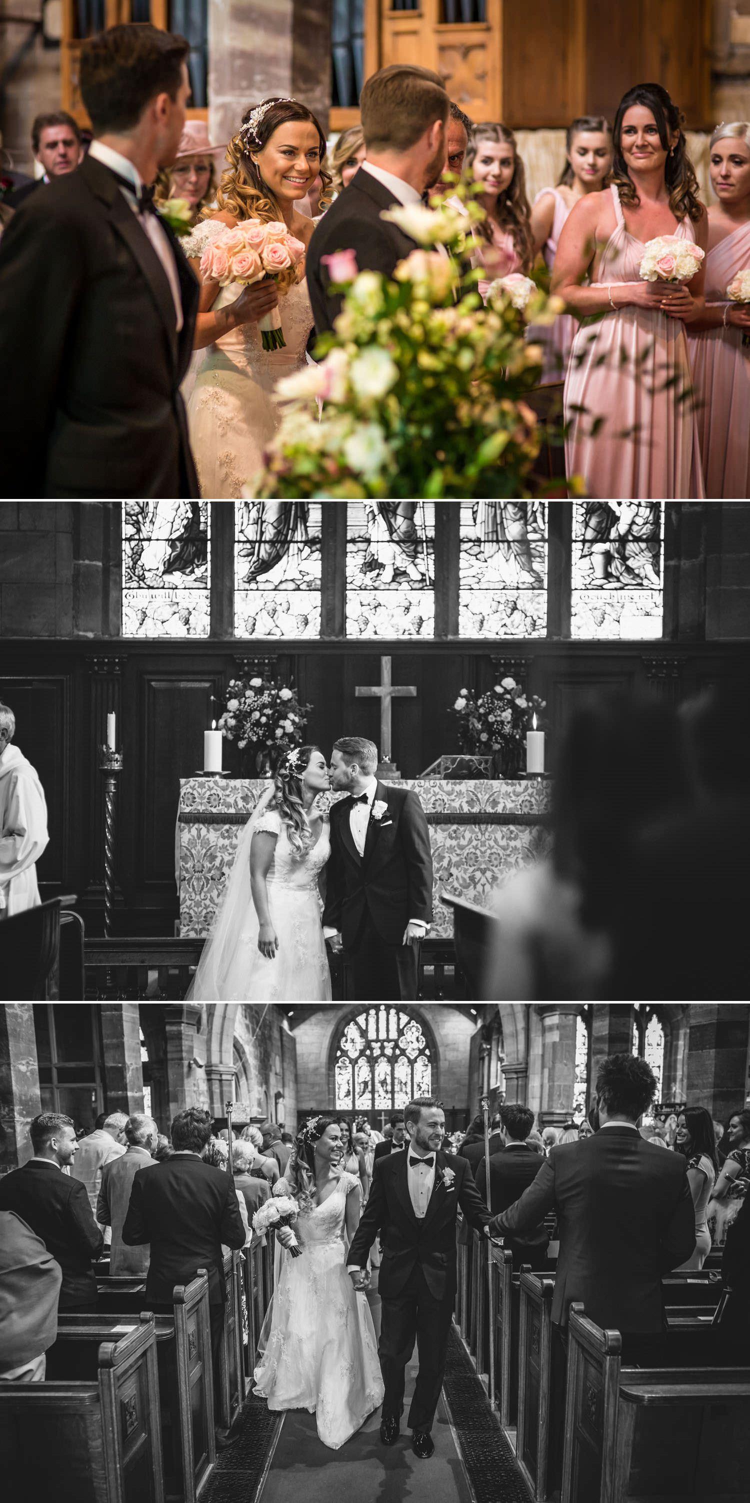Wedding Photography Shropshire, first kiss