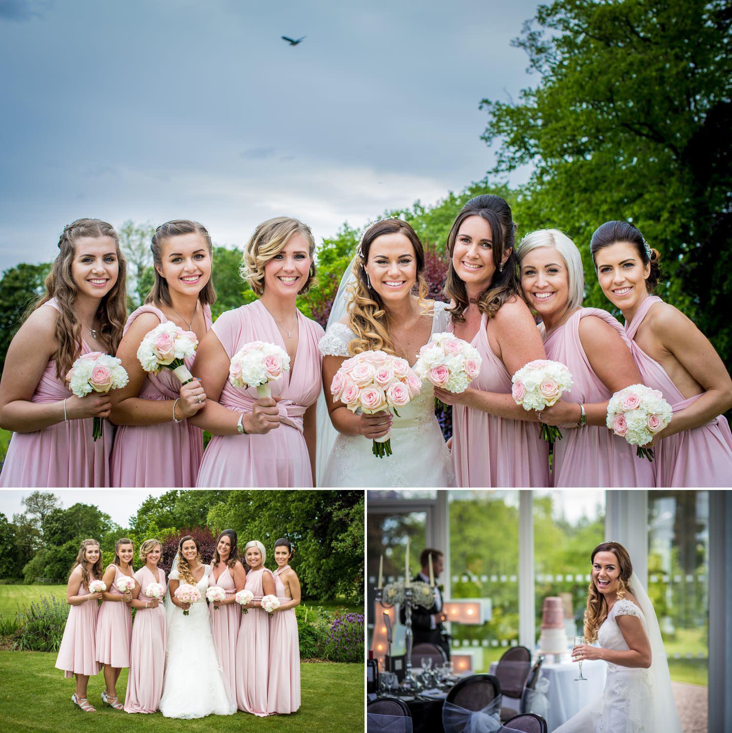 Wedding Photography Shropshire, photographs of bridesmaids